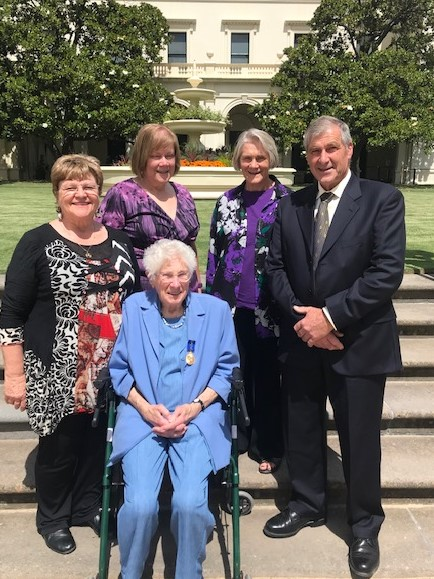 Eulalie Brewster at her Order of Australia ceremony