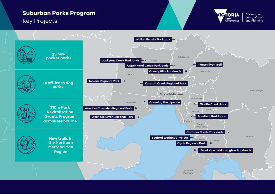 Map of pocket parks and off-leash dog parks
